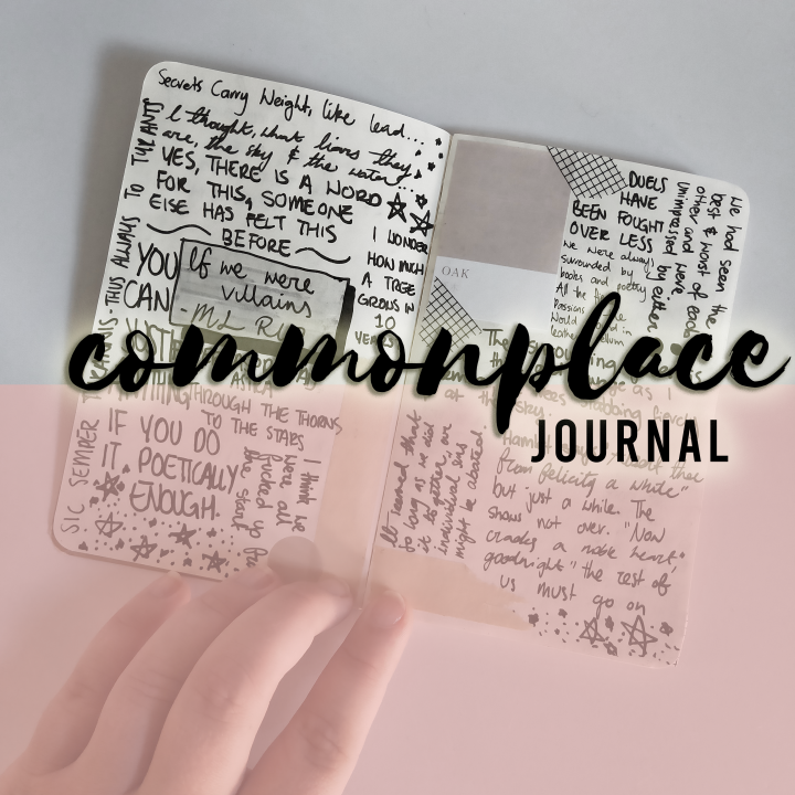 my commonplace journal and how I use it as a reader!